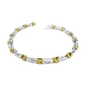 Jewelry - White & Yellow Gold Diamond Ladies Bracelet